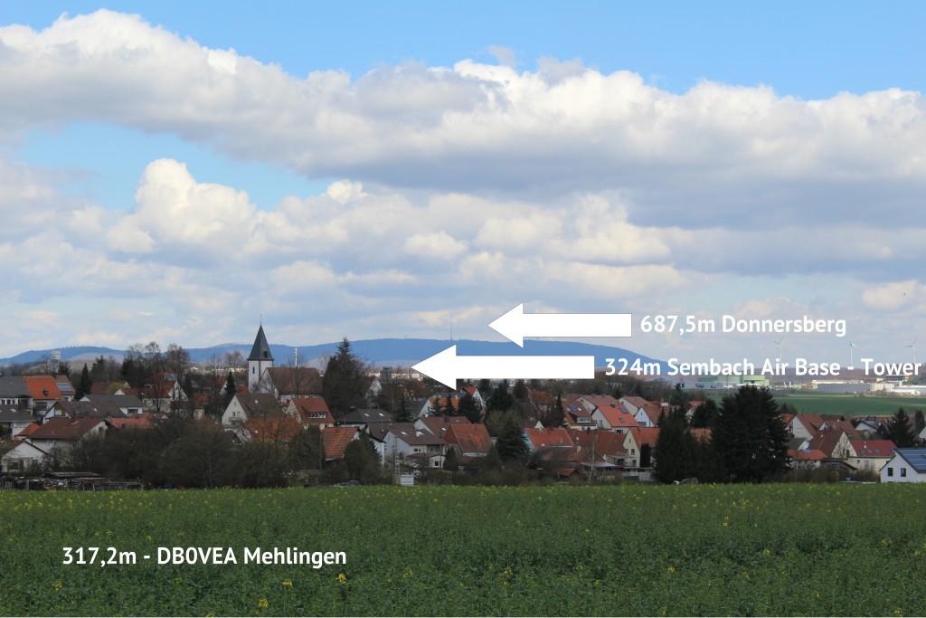 DB0VEA Mehlingen - Sembach - Donnersberg